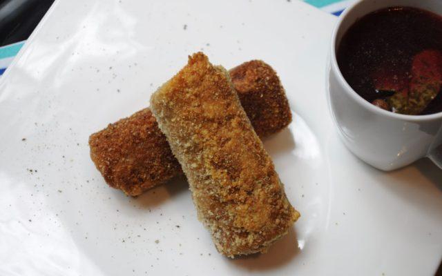 Krokiety z pieczarkami i serem