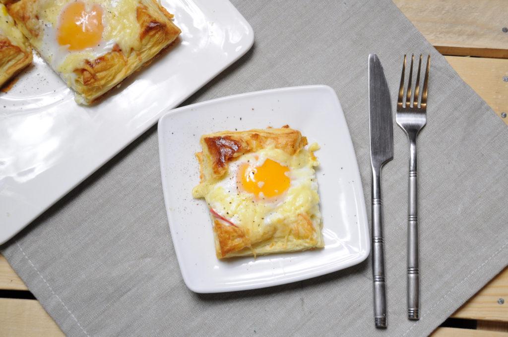 Jajko na cieście francuskim