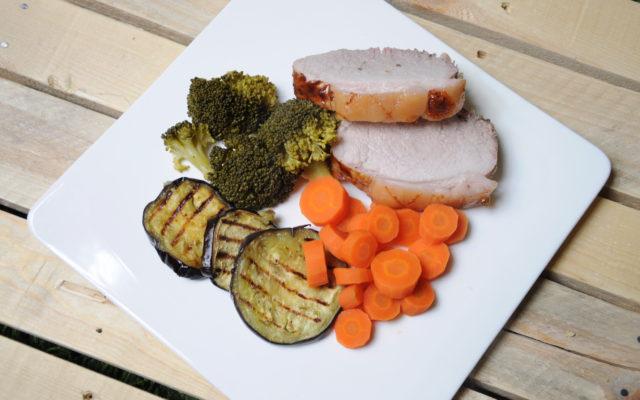 Szynka z warzywami