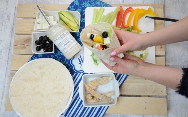 Wrapy na bogato z lekkim majonezem