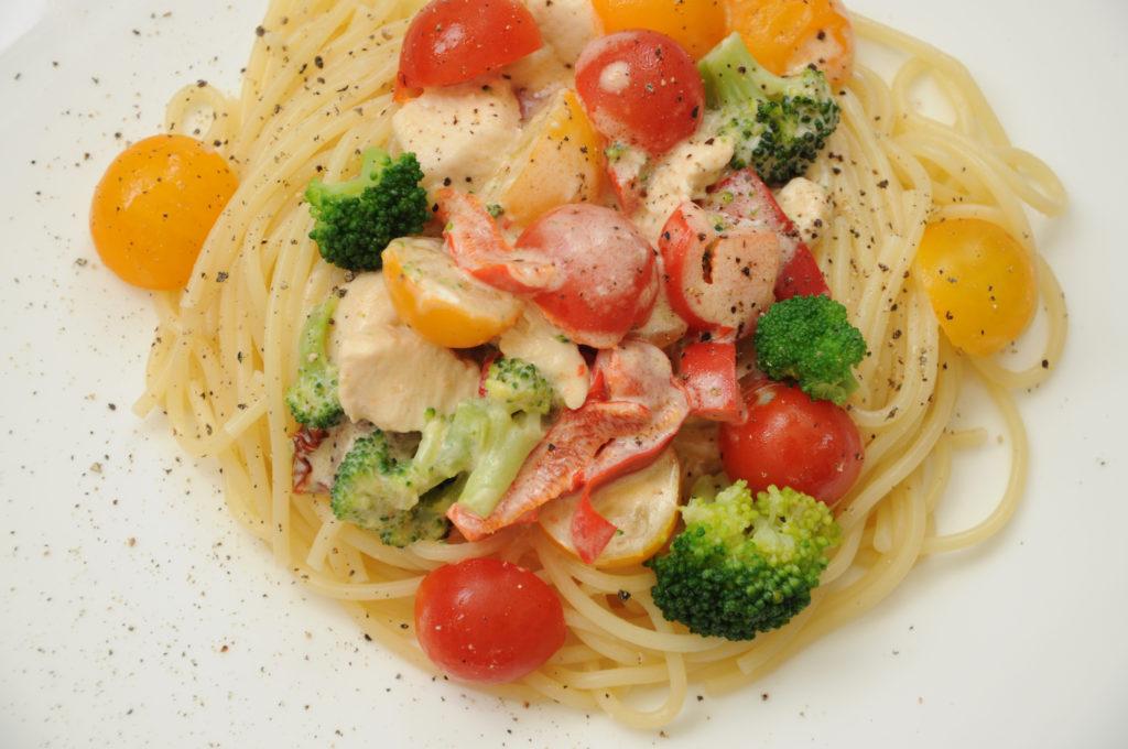 makaron z warzywami 1