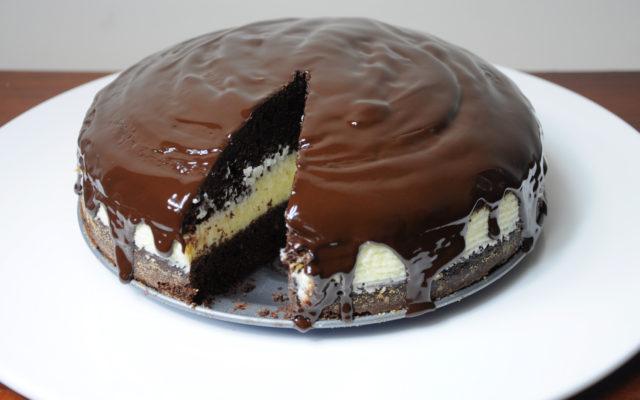 Ciasto czekoladowe z masą z kaszy manny